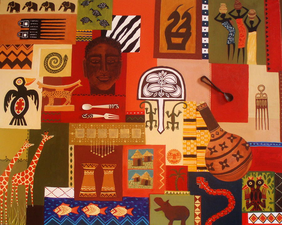 African arts and crafts 2 painting by pat barker for African arts and crafts