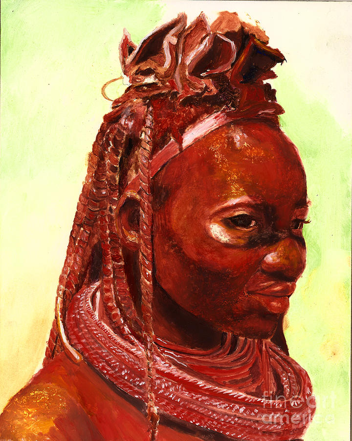 African Beauty Painting  - African Beauty Fine Art Print