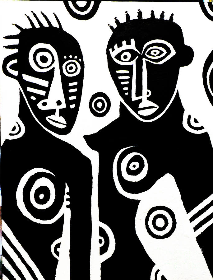 African Couple Painting  - African Couple Fine Art Print