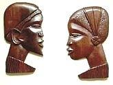 African Couple Sculpture
