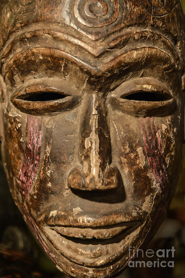 African Tribal Mask. Photograph