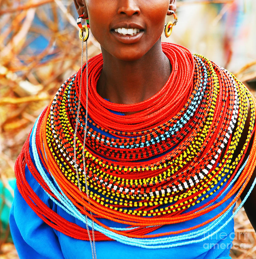 African Woman With Traditional Accessories Photograph