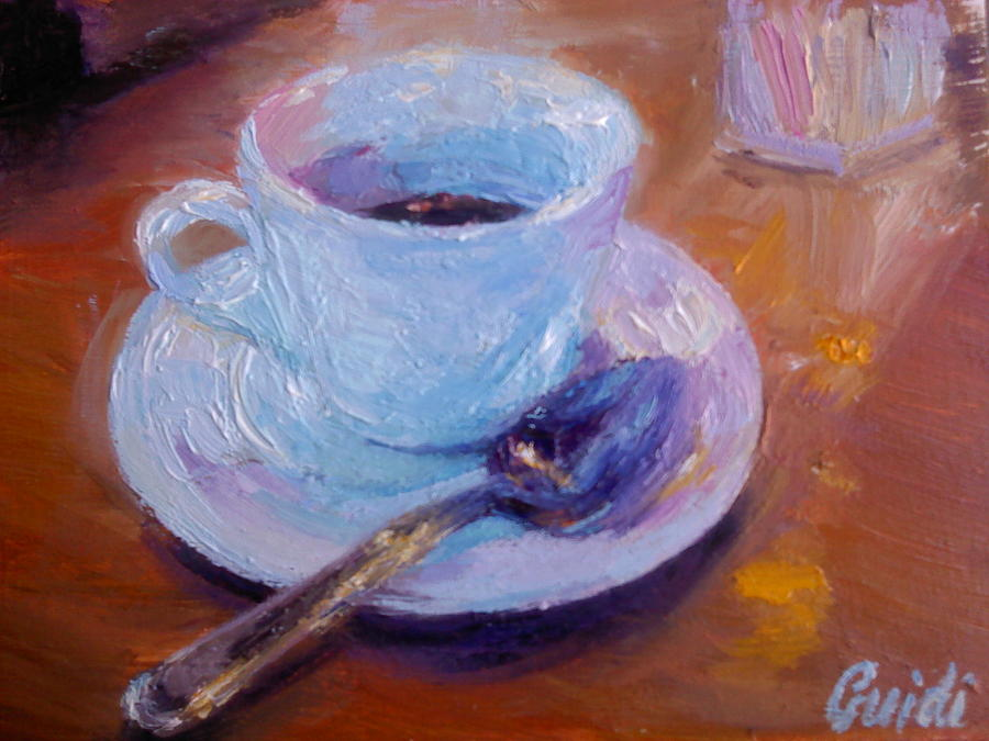 After Dinner Coffee Painting  - After Dinner Coffee Fine Art Print