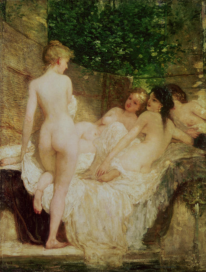 After The Bath Painting  - After The Bath Fine Art Print
