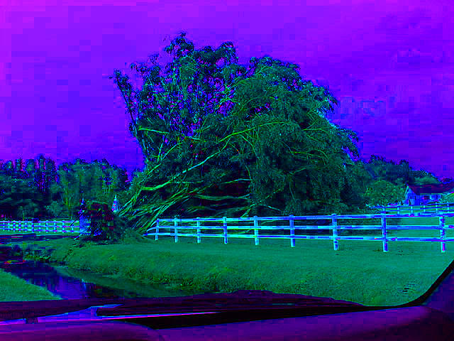 Landscape Photograph - After The Hurricane Blues by Val Oconnor