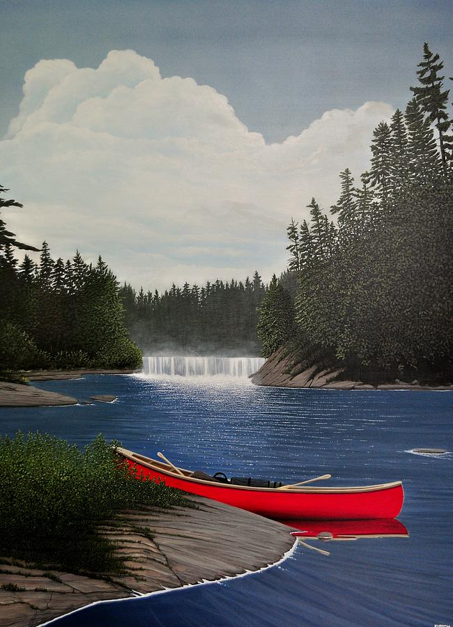 After The Rapids Painting