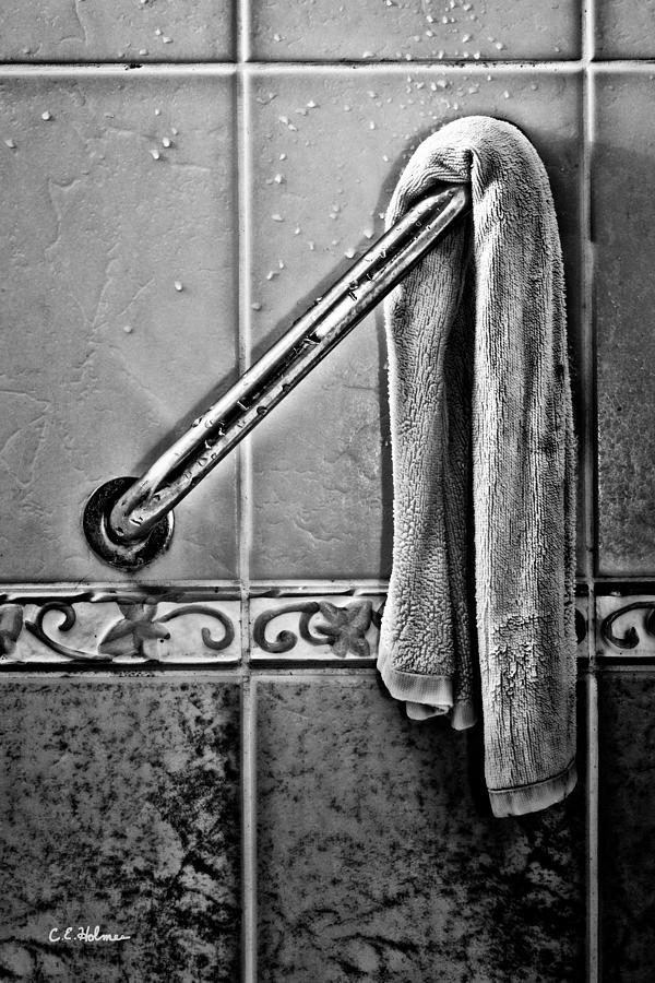 After The Shower - Bw Photograph