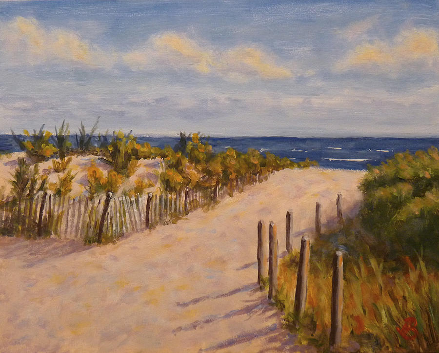 Afternoon At The Beach Painting  - Afternoon At The Beach Fine Art Print