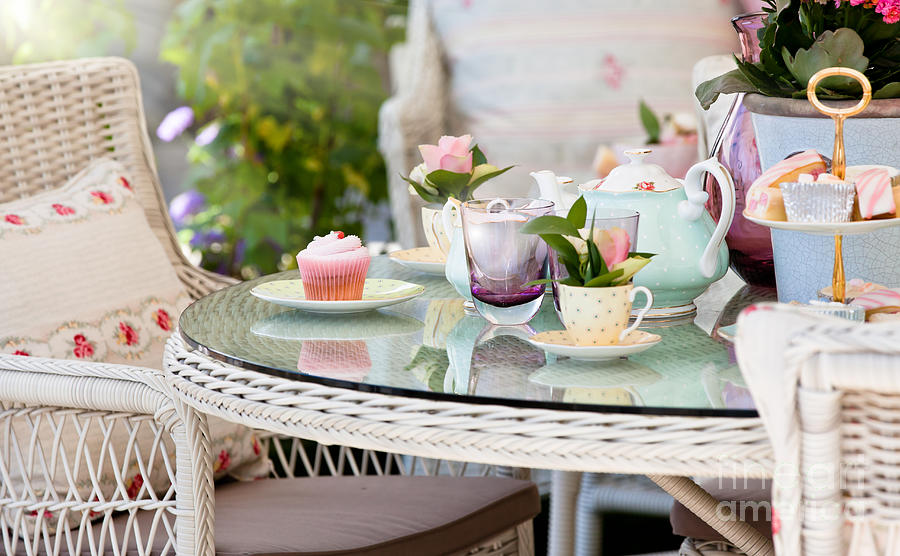 Afternoon Tea And Cakes Photograph