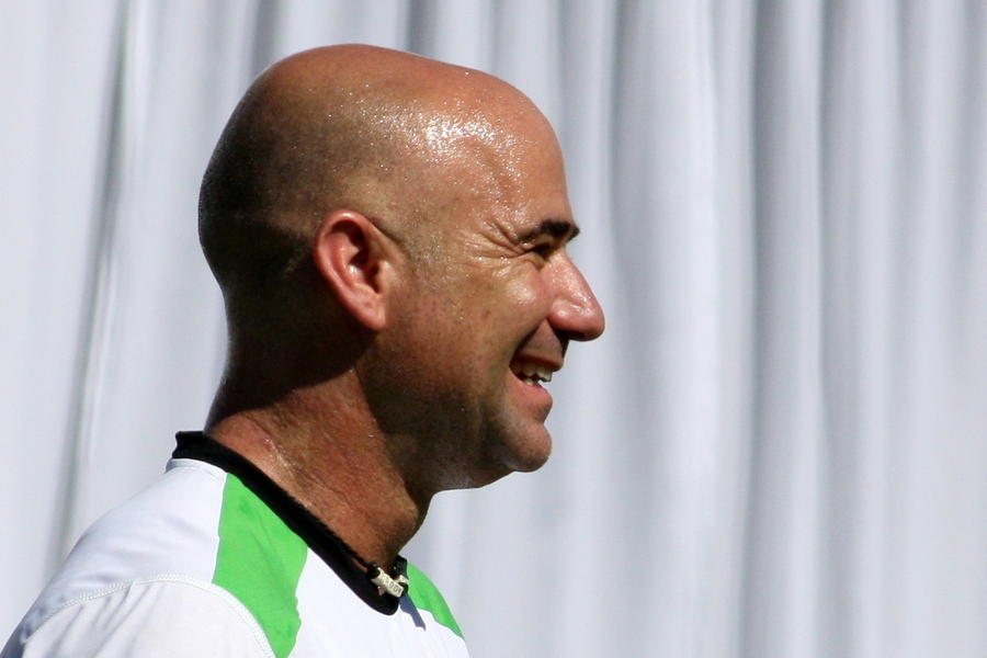 Agassi Smile Photograph