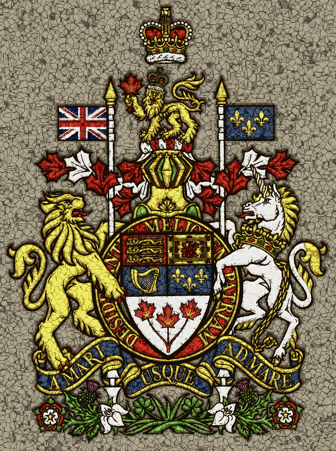 Aged And Cracked Canada Coat Of Arms Photograph by David G ...