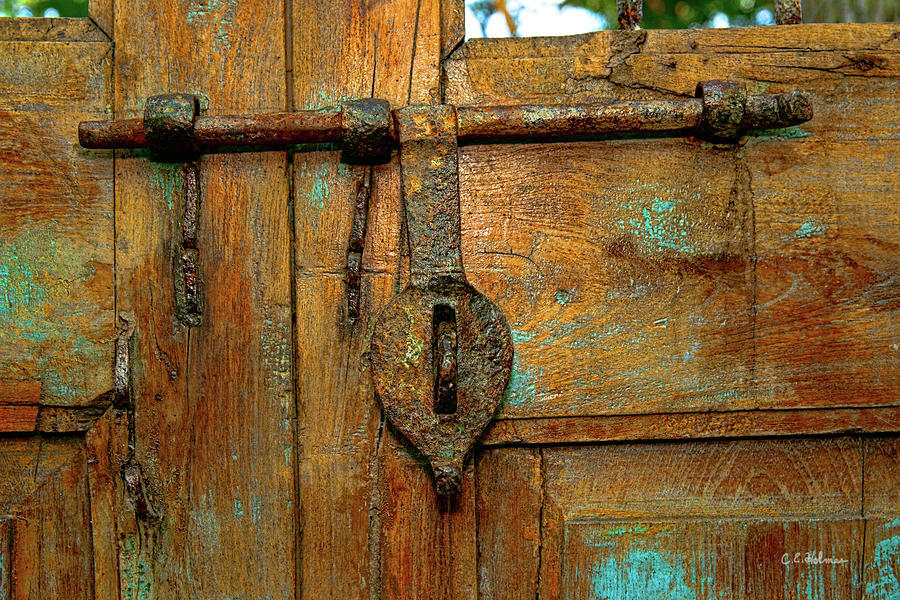 Aged Latch Photograph  - Aged Latch Fine Art Print