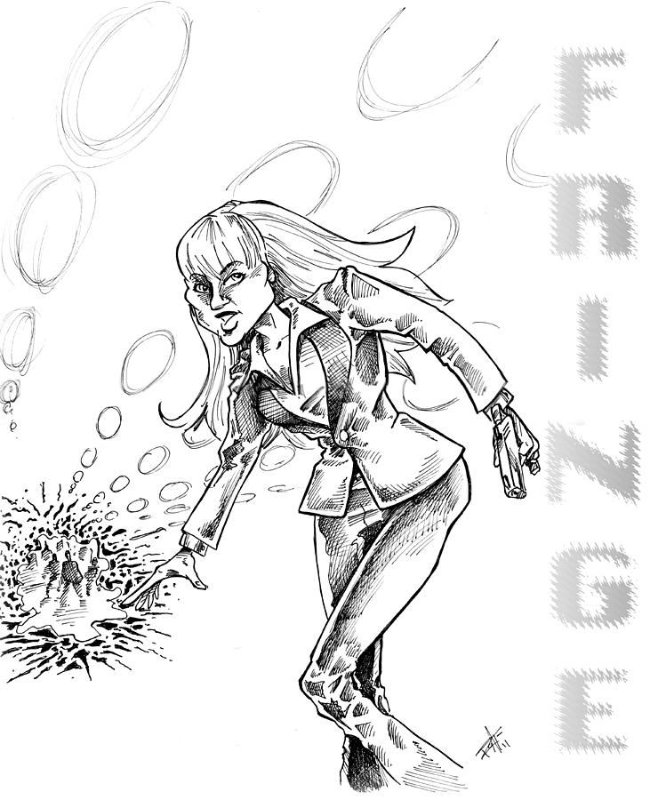 Fringe Alien Drawing - Agent Dunham by Big Mike Roate
