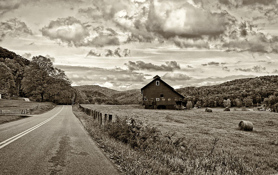 Ah...west Virginia Sepia Photograph