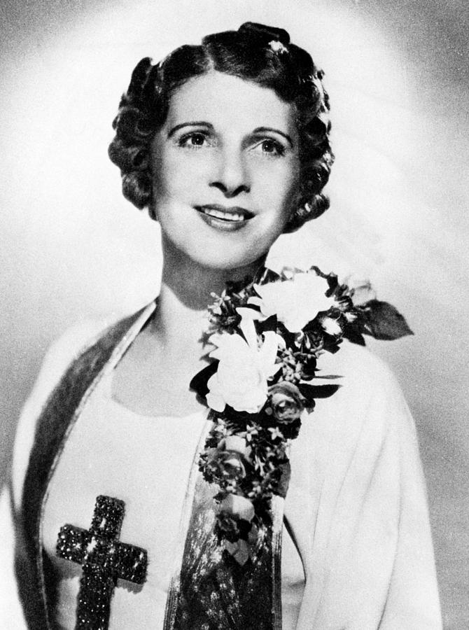 Aimee Semple Mcpherson, 1890-1944 Photograph