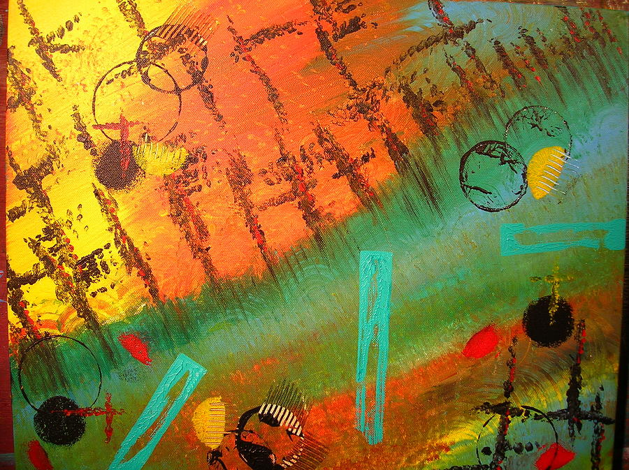 Abstract Painting Painting - Aimless by Lisa Williams