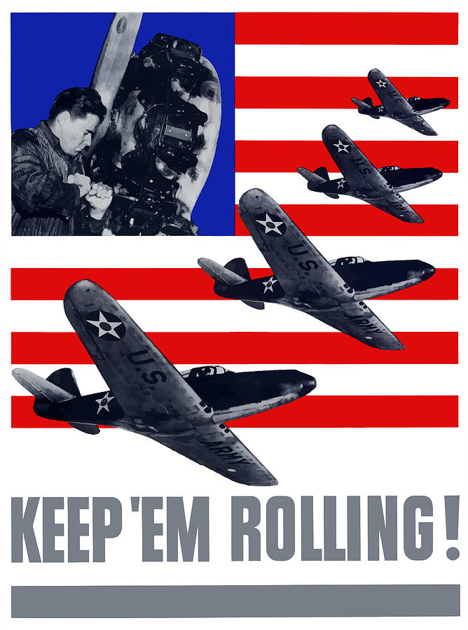Air Force Keep em Rolling Painting  - Air Force Keep em Rolling Fine Art Print