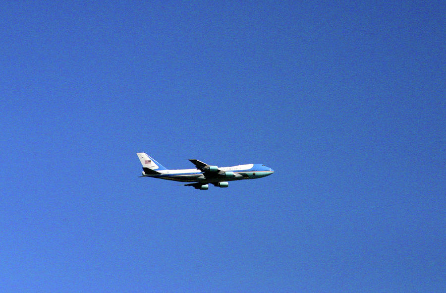 Air Force One In Flight Photograph
