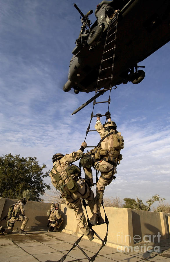 Color Image Photograph - Air Force Pararescuemen Are Extracted by Stocktrek Images
