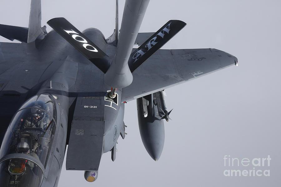 Air Refueling A F-15e Strike Eagle Photograph