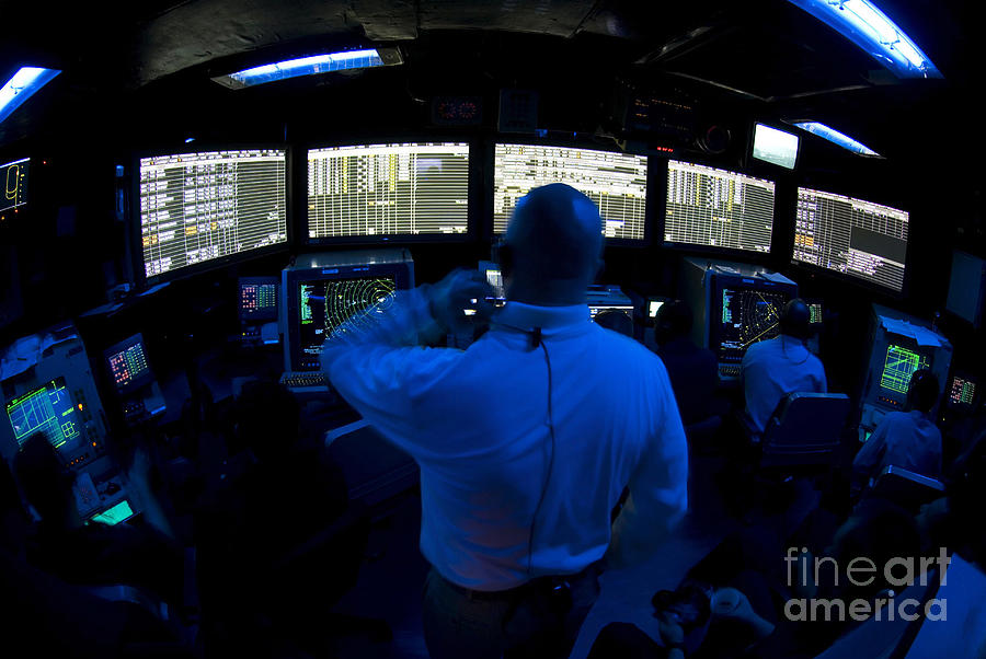 Air Traffic Controller Watches Photograph