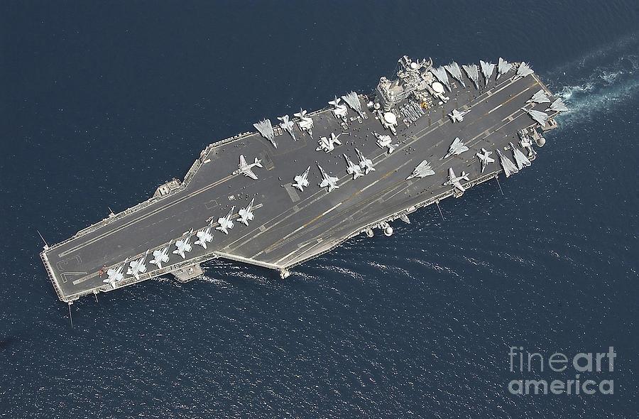Aircraft carrier uss george washington is a photograph by stocktrek