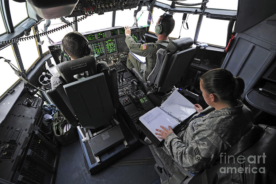 Aircrew Perform Preflight Checklists Photograph
