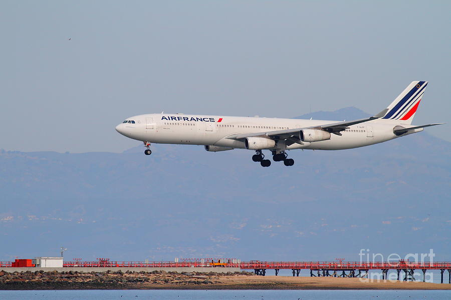 Airfrance Airlines Jet Airplane At San Francisco International Airport Sfo . 7d12219 Photograph