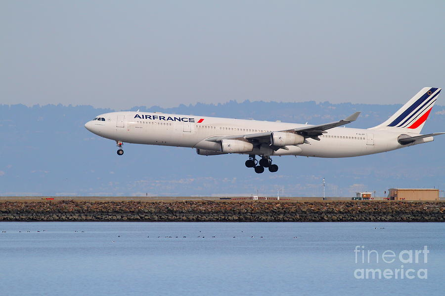 Airfrance Airlines Jet Airplane At San Francisco International Airport Sfo . 7d12223 Photograph