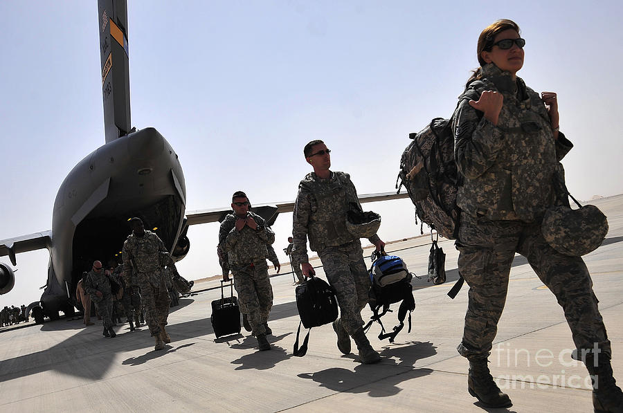 Airmen Arrive In Iraq In Support Photograph  - Airmen Arrive In Iraq In Support Fine Art Print