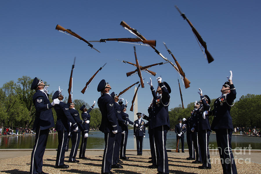 Airmen In The U.s. Air Force Honor Photograph
