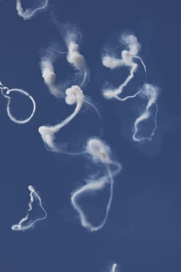 Airplane Smoke Trails Photograph