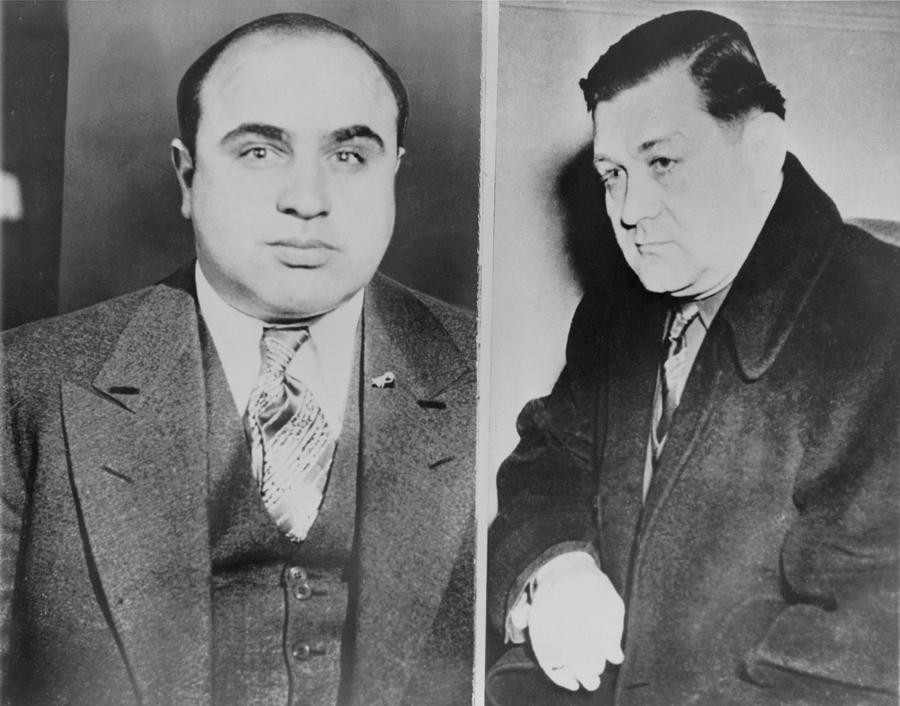 Al Capone Left And His Rival, George Photograph
