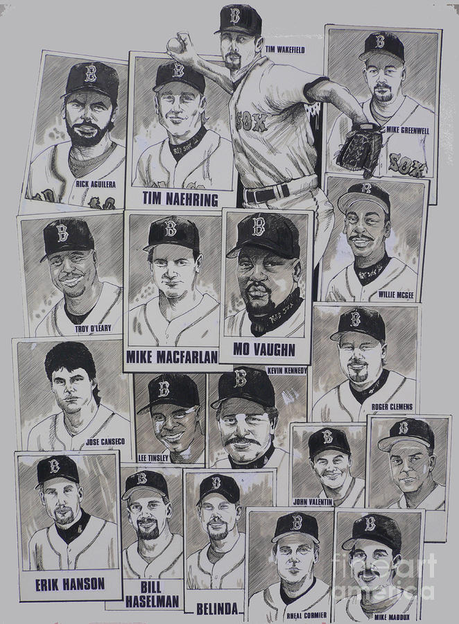 Al East Champions Red Sox Newspaper Poster Drawing  - Al East Champions Red Sox Newspaper Poster Fine Art Print