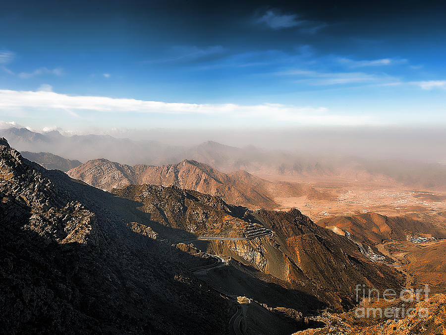 Al Hada Road In Taif Photograph  - Al Hada Road In Taif Fine Art Print