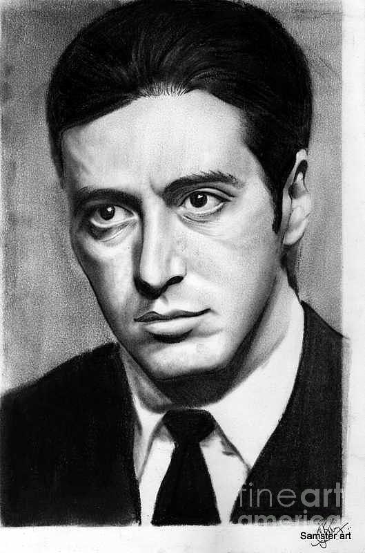 Godfather Al Pacino Painting Al pacino portrait painting Al Pacino