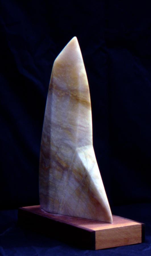 Alabaster Sail Sculpture