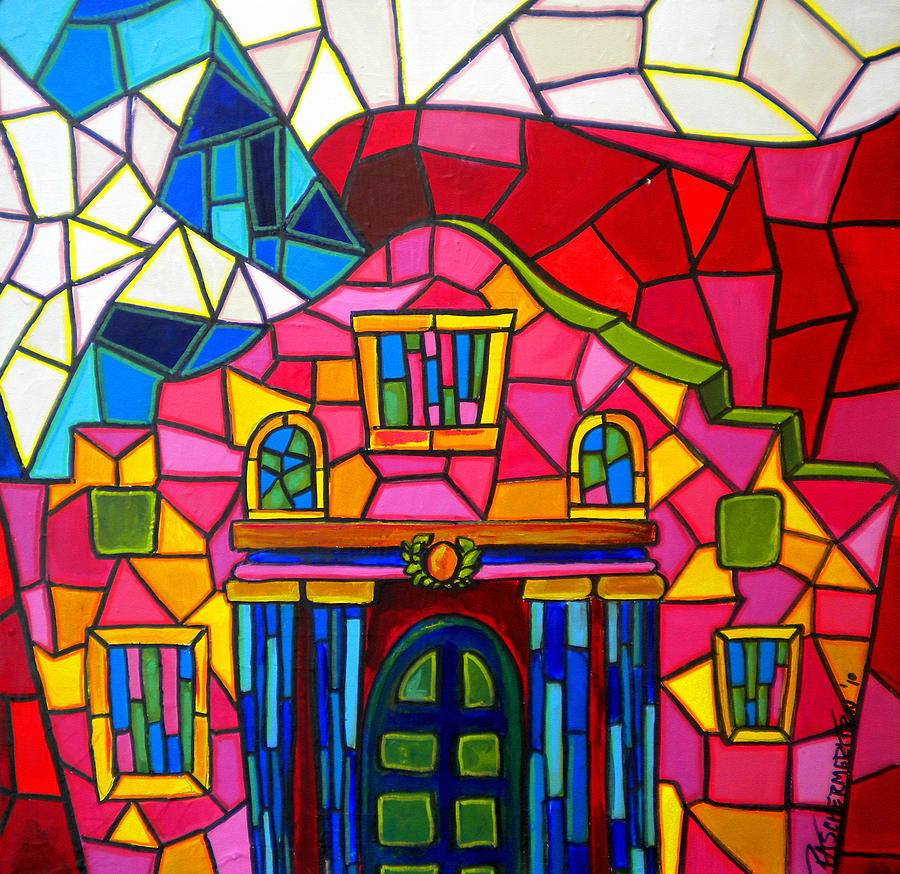 Alamo Mosaic Two Painting  - Alamo Mosaic Two Fine Art Print