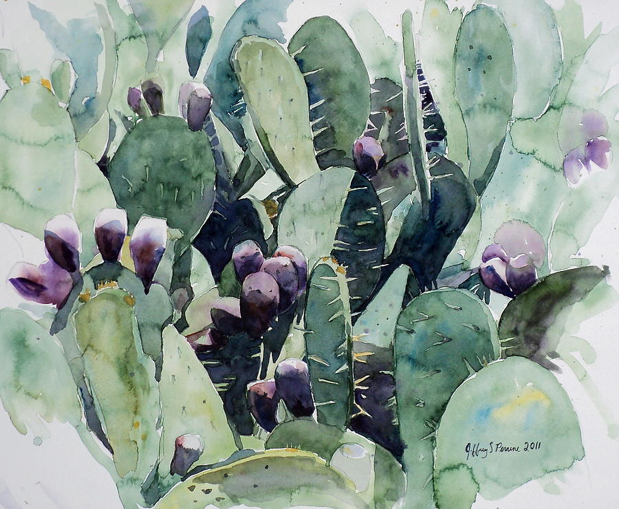 Alamo Prickly Pear Painting