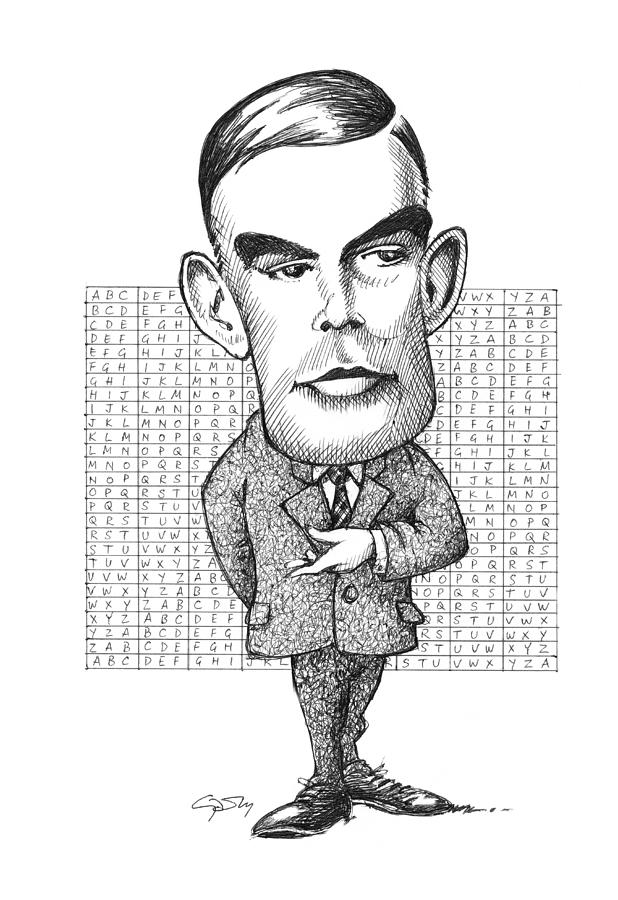 Alan Turing, British Mathematician Photograph  - Alan Turing, British Mathematician Fine Art Print