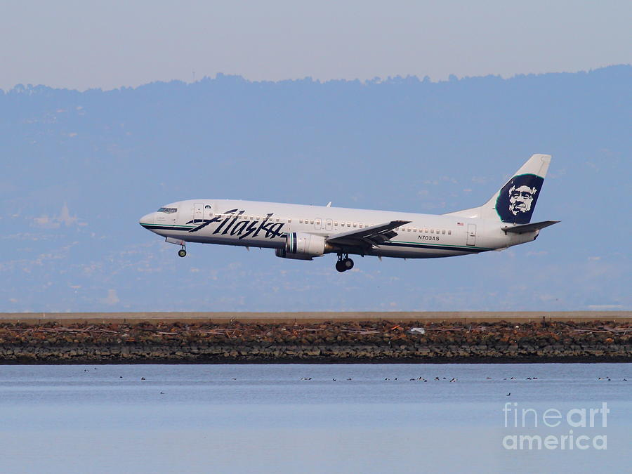 Alaska Airlines Jet Airplane At San Francisco International Airport Sfo . 7d12232 Photograph
