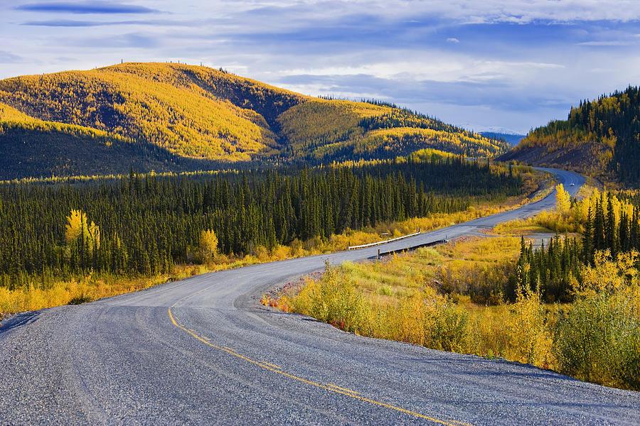 Alaska Highway Near Beaver Creek Photograph