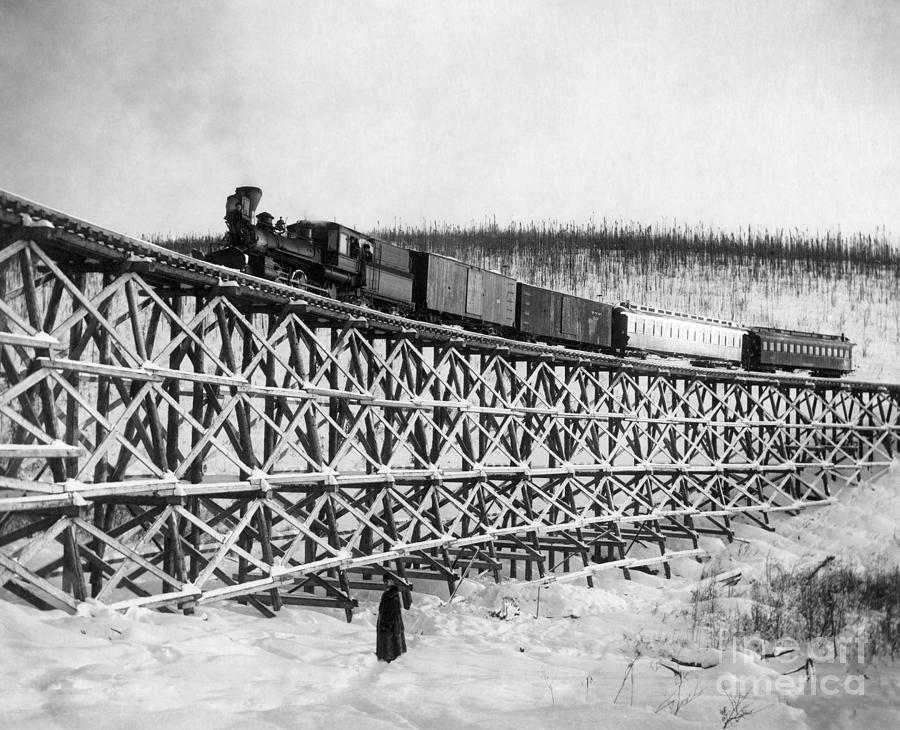 Alaska: Railroad, 1916 Photograph  - Alaska: Railroad, 1916 Fine Art Print