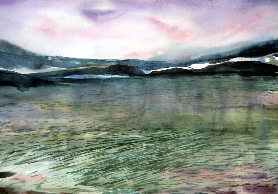 Alaskan Waters Painting  - Alaskan Waters Fine Art Print