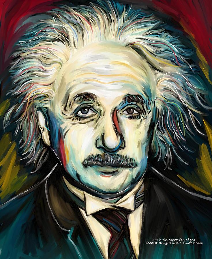 Albert Einstein Painting By Amarok A