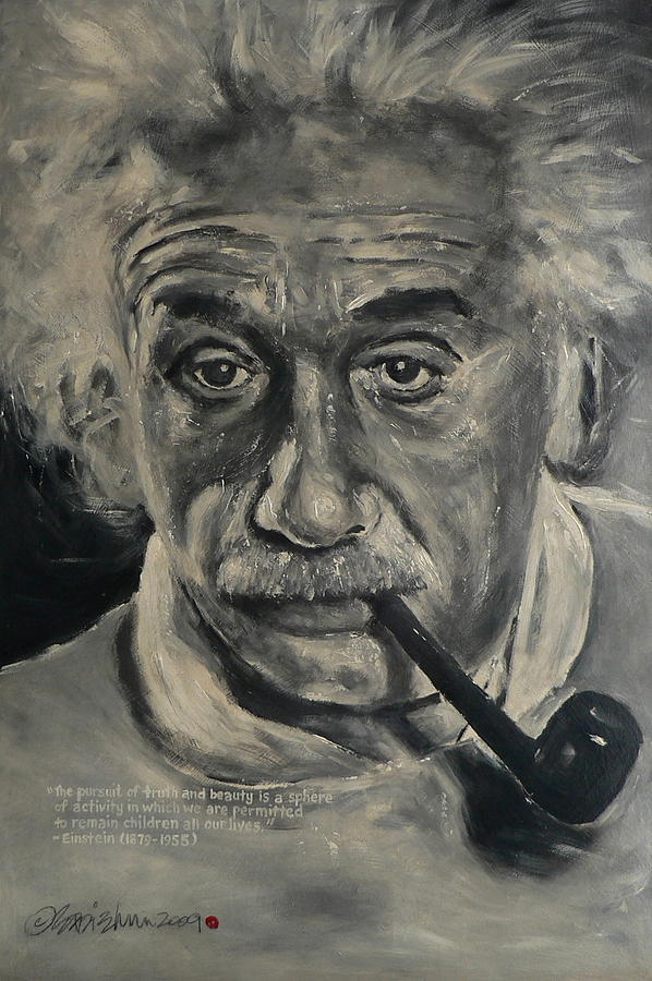 Albert Einstein Painting