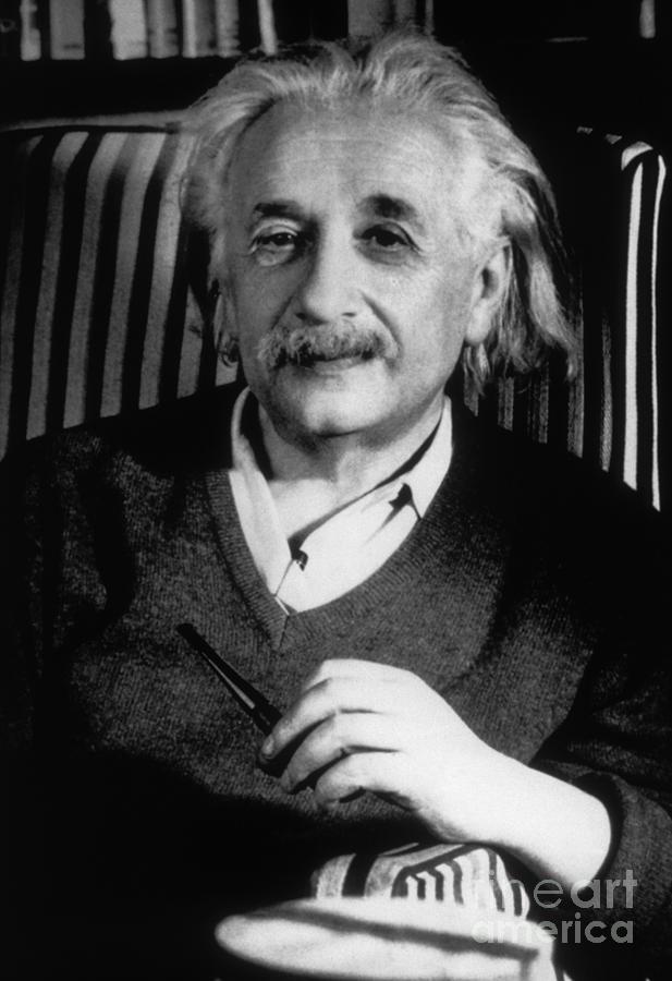 Science Photograph - Albert Einstein, German-american by Science Source