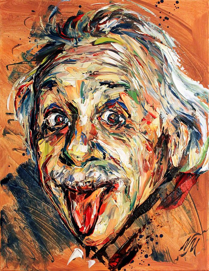 Albert Einstein Painting  - Albert Einstein Fine Art Print