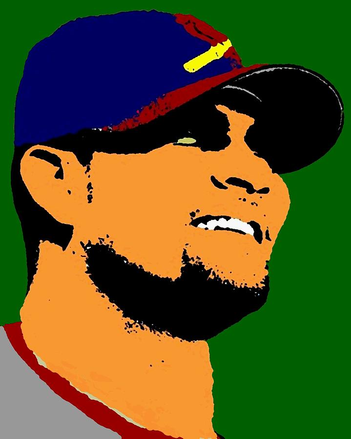 Albert Pujols Digital Art  - Albert Pujols Fine Art Print