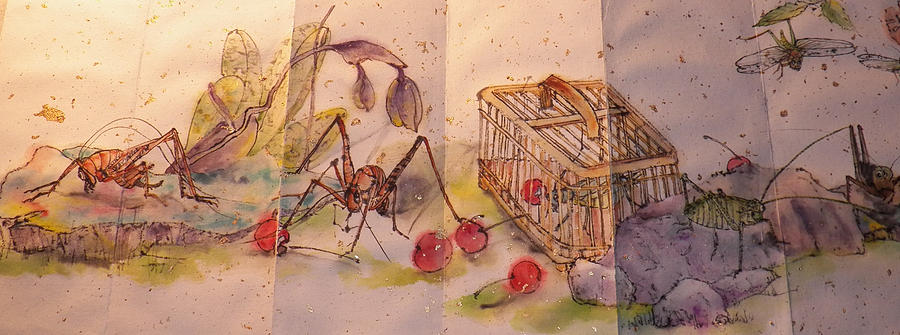 Album Of Crickets Painting  - Album Of Crickets Fine Art Print